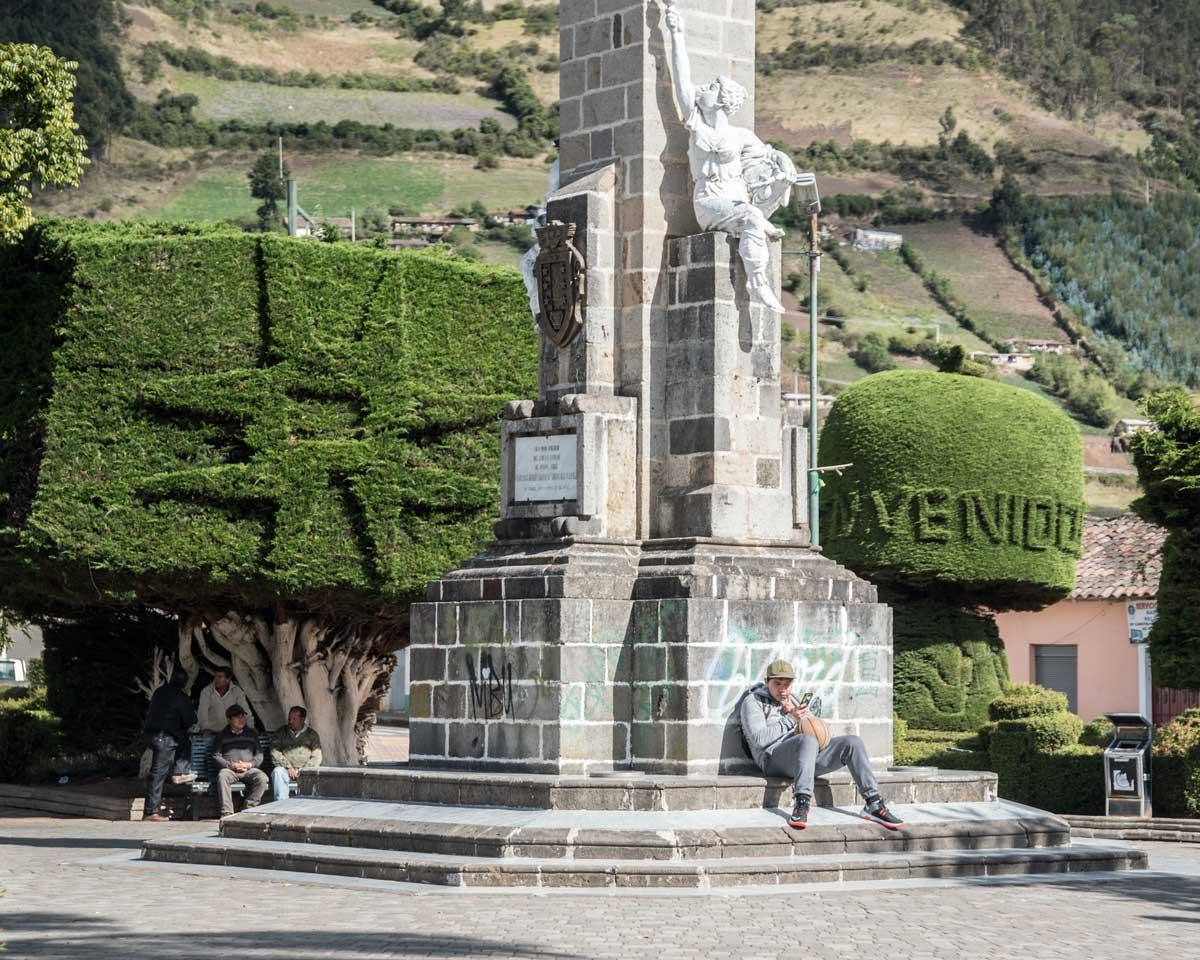 Main Plaza in El Angel, Carchi Province, Ecuador     ©Angela Drake