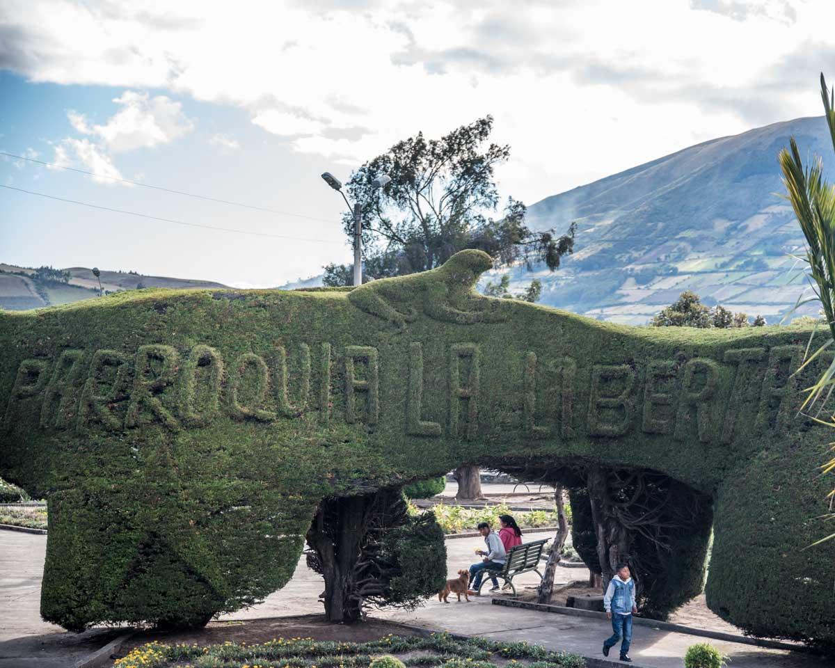 Main Plaza in La Libertad, Carchi Province, Ecuador     ©Angela Drake