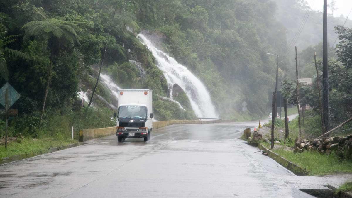 Waterfall on the E-50, Ecuador | ©Angela Drake