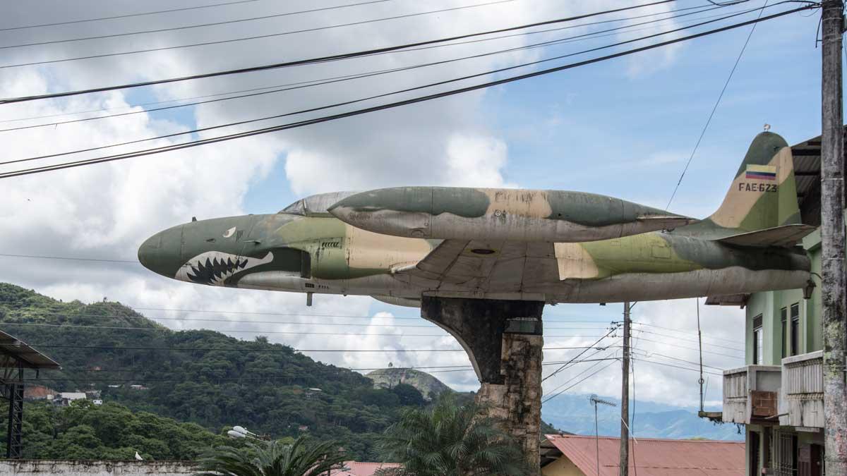 Fighter from the Cenepa War, Malvas, Ecuador | ©Angela Drake