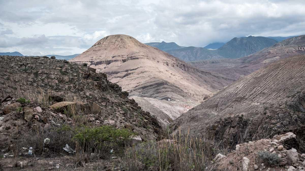 Sandstone Mountains along Highway 59, Ecuador | ©Angela Drake