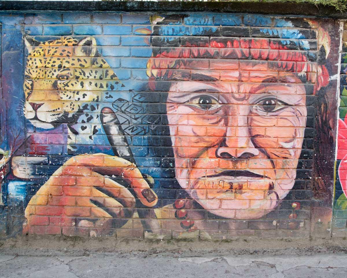 Shuar Mural in Yantzaza, Ecuador | ©Angela Drake
