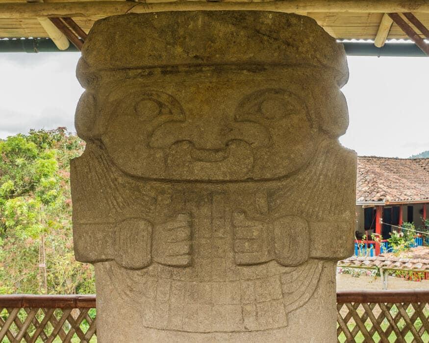 Check out this statues unique nose ring, El Tablon, Colombia | ©Ernest Scott Drake