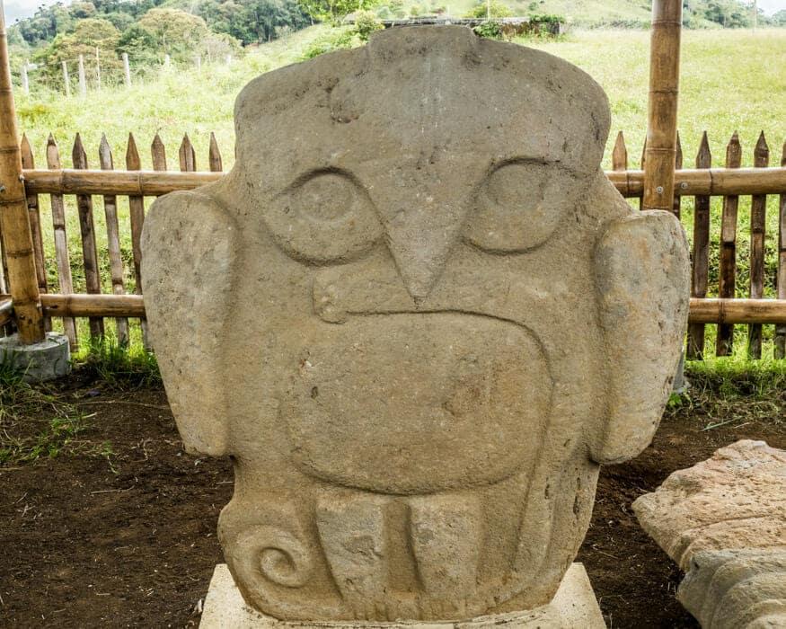 Bird with Snake at El Purutal, San Agustin, Colombia | ©Ernest Scott Drake