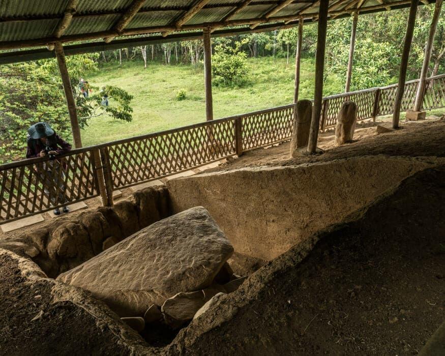 A view under the structure at La Pelota, San Agustin, Colombia | ©Ernest Scott Drake