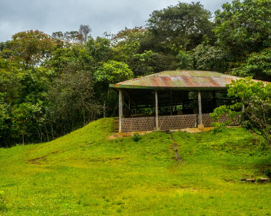 The protected structure at La Pelota, San Agustin, Colombia | ©Ernest Scott Drake