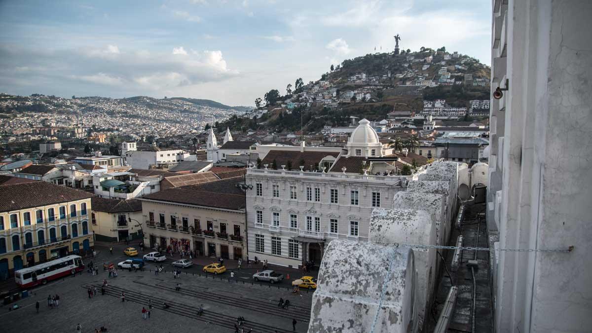 View from San Francisco Church, Quito, Ecuador | ©Angela Drake
