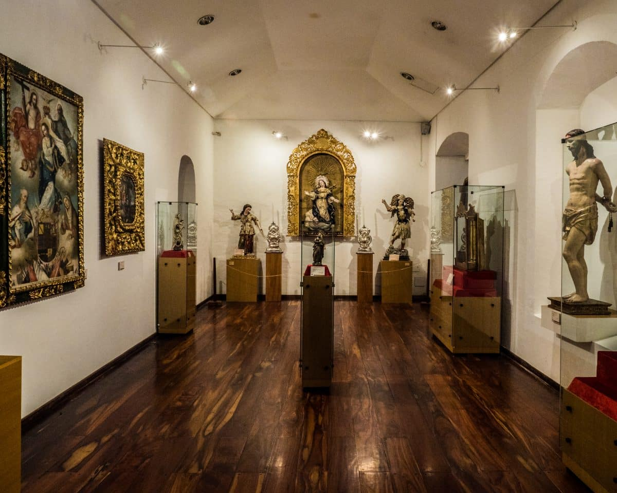 From the Frey Pedro Gocial museum, this is the gallery of the Virgin. |© Ernest Scott Drake
