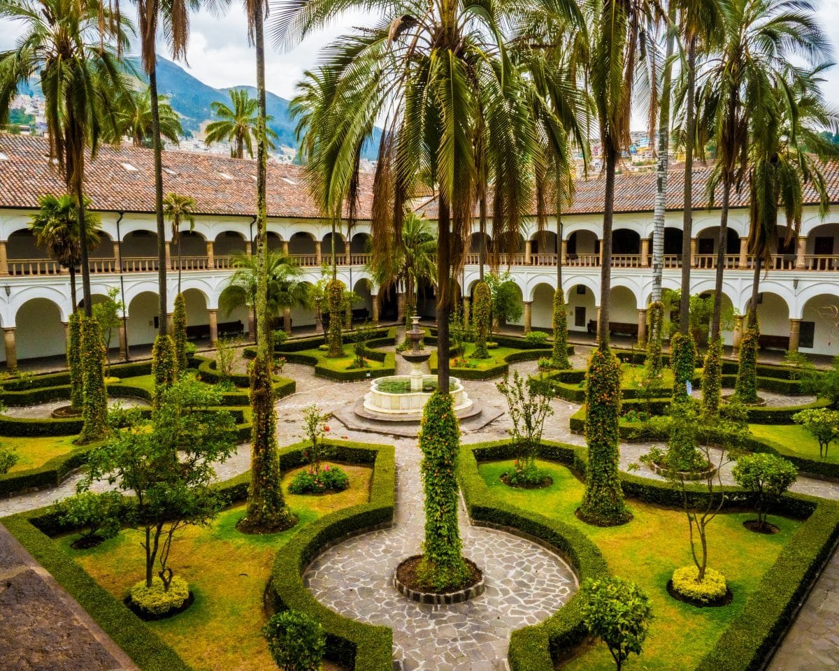 View from the Church bell tower of the courtyard. |© Ernest Scott Drake