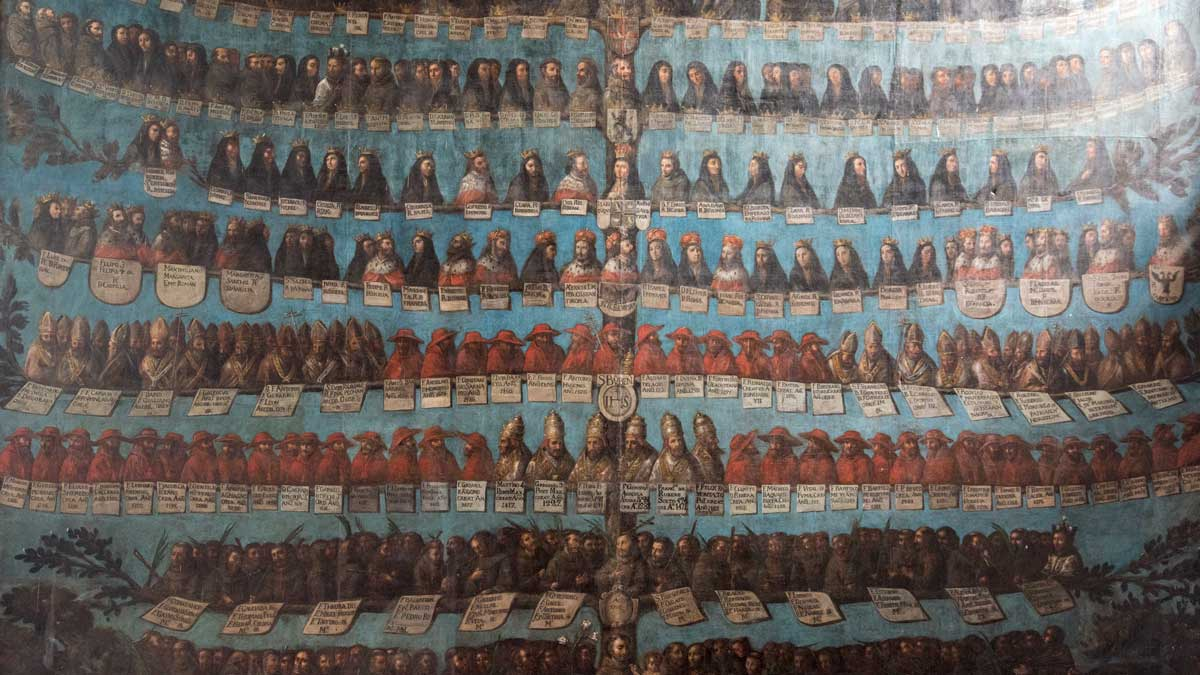A family tree of the Franciscan Order, Iglesia San Francisco Museum, Quito | ©Angela Drake