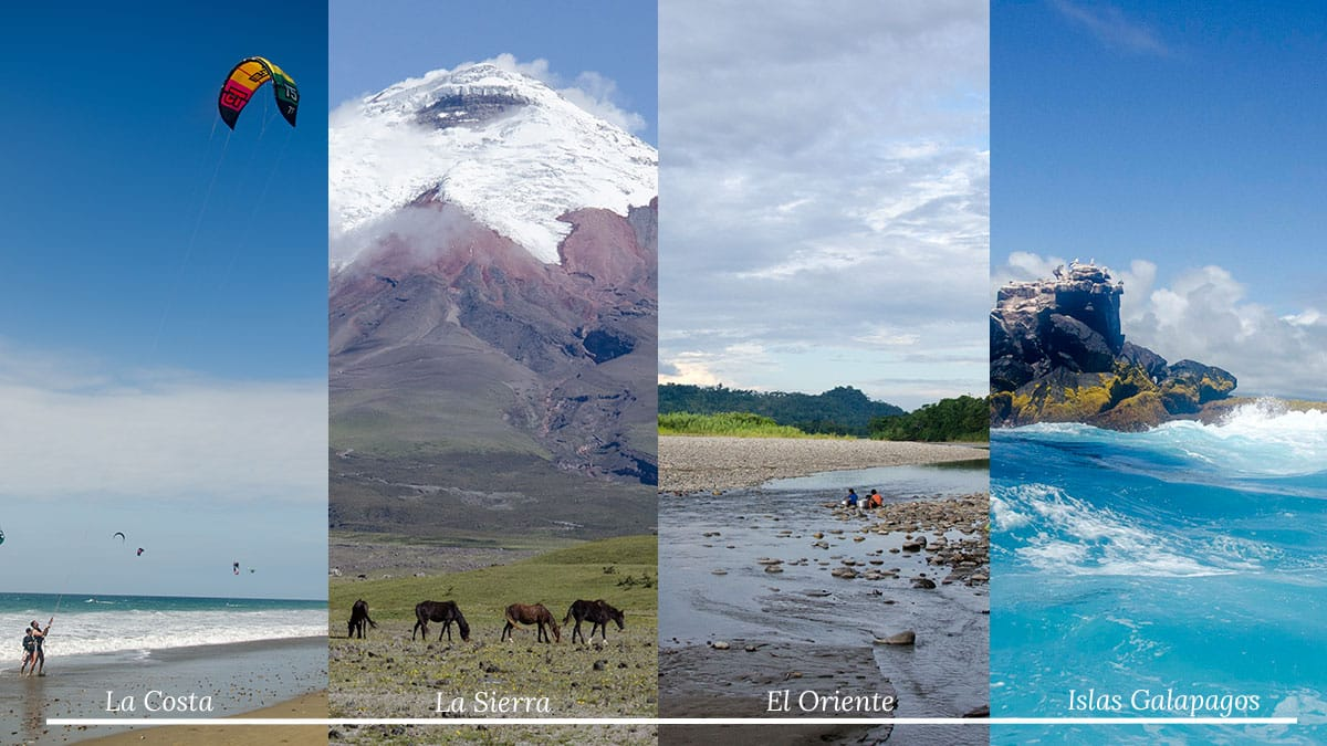 The Four Geographic Regions of Ecuador   ©Not Your Average American