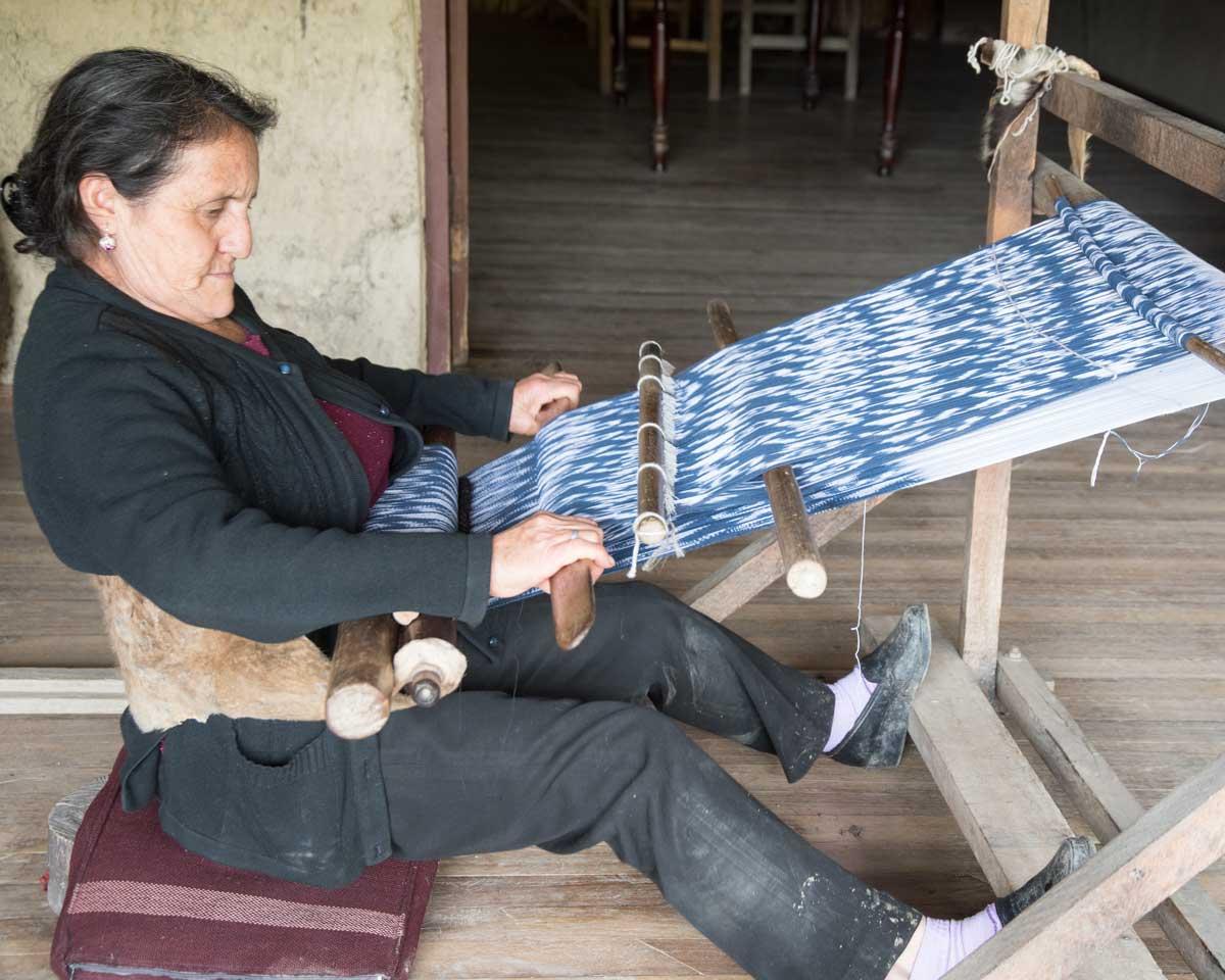 Anna Maria Ulloa, Macana weaver and local guide, Sigsig, Ecuador | ©Angela Drake