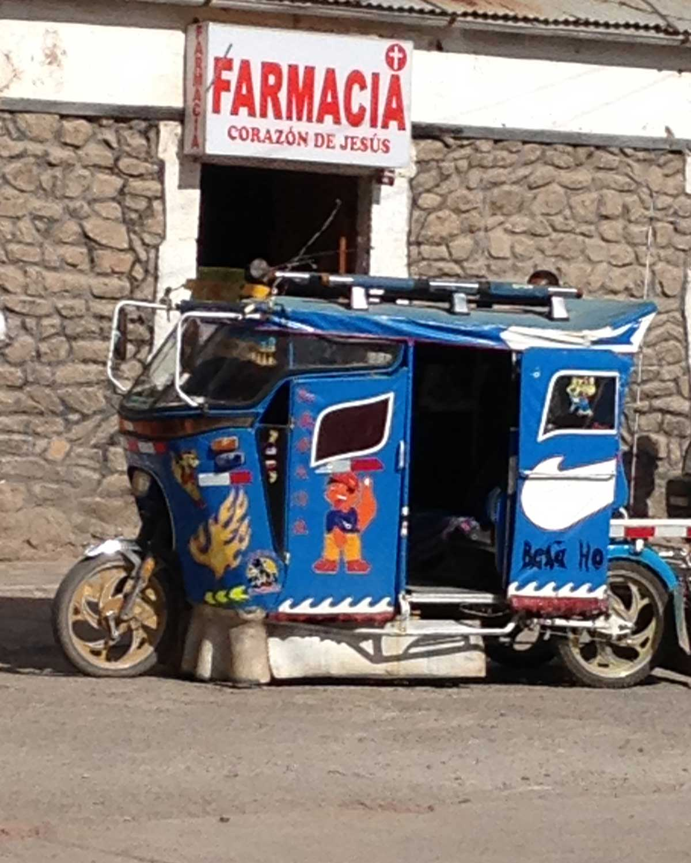 Moto Taxi, Chivay, Peru | ©Eleanor Hughes