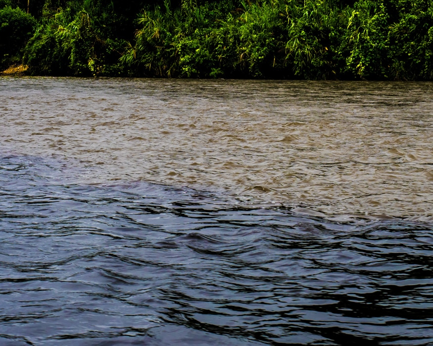 The very different colors of the Shaime and Nangartiza Rivers | © Ernest Scott Drake