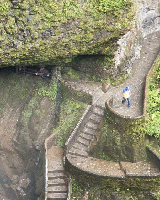 View of the Pailon del Diablo Steps and Trail, Rio Verde, Ecuador   ©Angela Drake