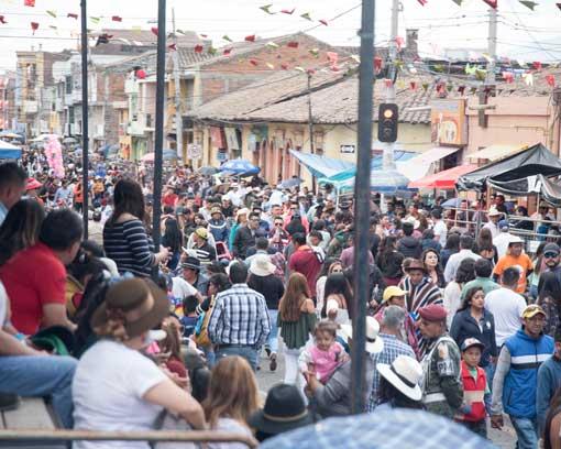 Crowds before the Mama Negra Parade, Latacunga, Ecuador   ©Angela Drake