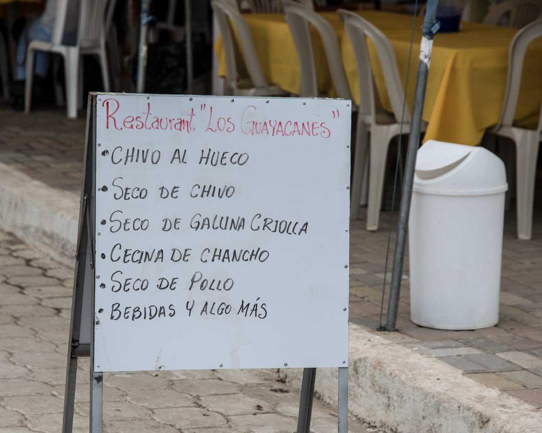 Restaurant Sign in Mangahurco, Loja, Ecuador   ©Angela Drake