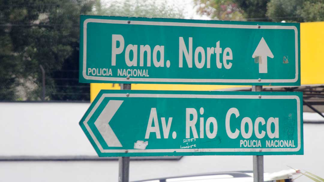 Directional Signs, Driving in Quito, Ecuador   ©Angela Drake