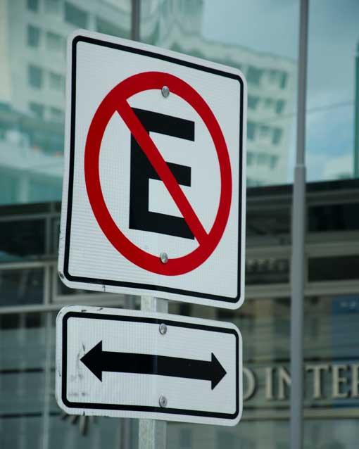 No Parking Sign, Quito, Ecuador   ©Angela Drake