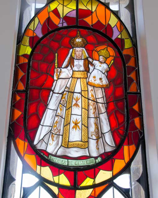 Stained Glass Virgin Mary, Quito, Ecuador | ©Angela Drake
