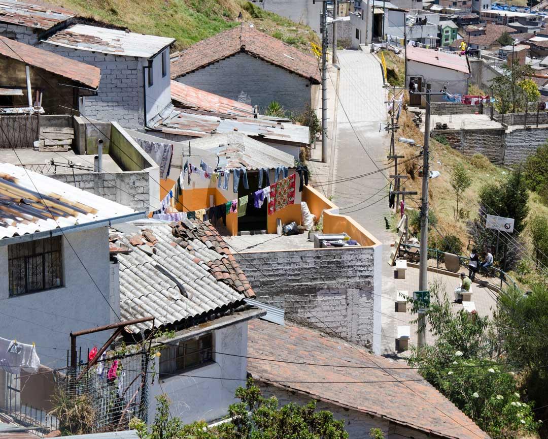 Homes on the Panecillo Steps, Quito, Ecuador | ©Angela Drake