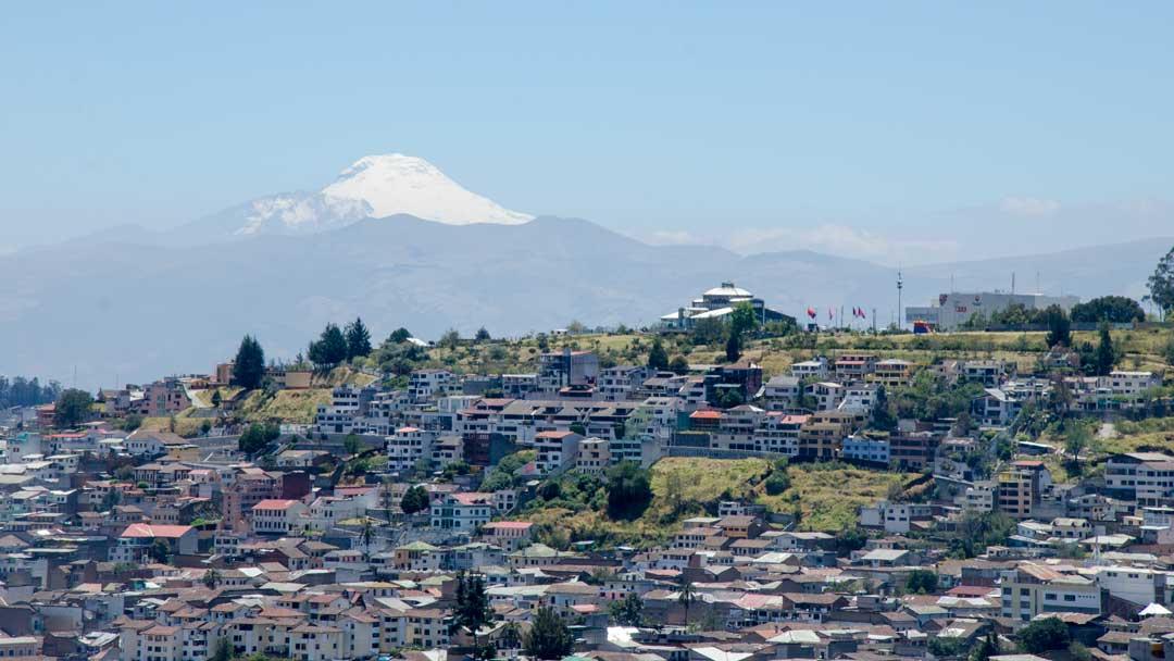 View of Cotopaxi from the Panecillo, Quito, Ecuador | ©Angela Drake