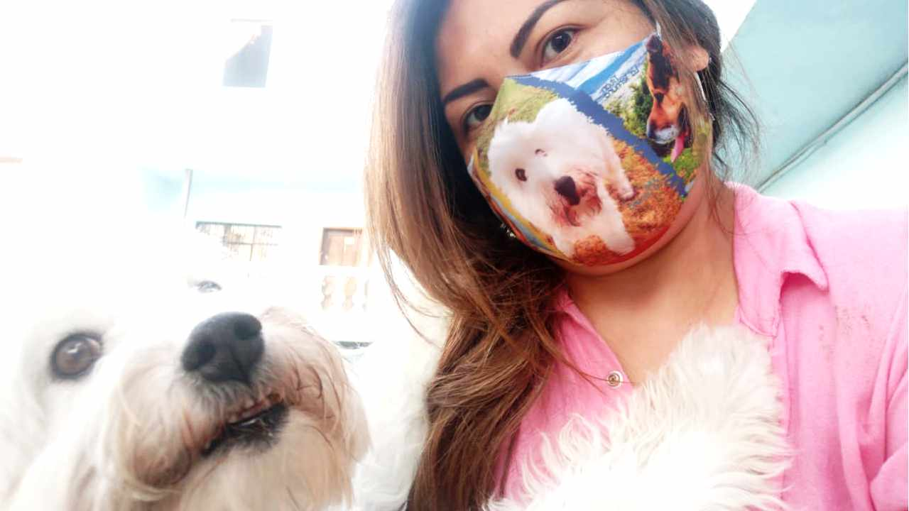 Jacqueline Granda and her beloved companion, Titán.