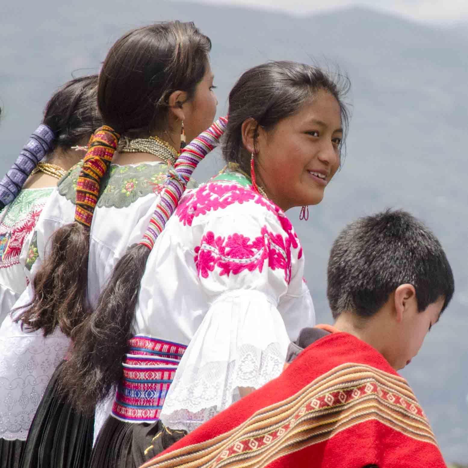 Dancers at Cochasqui, Ecuador | ©Angela Drake